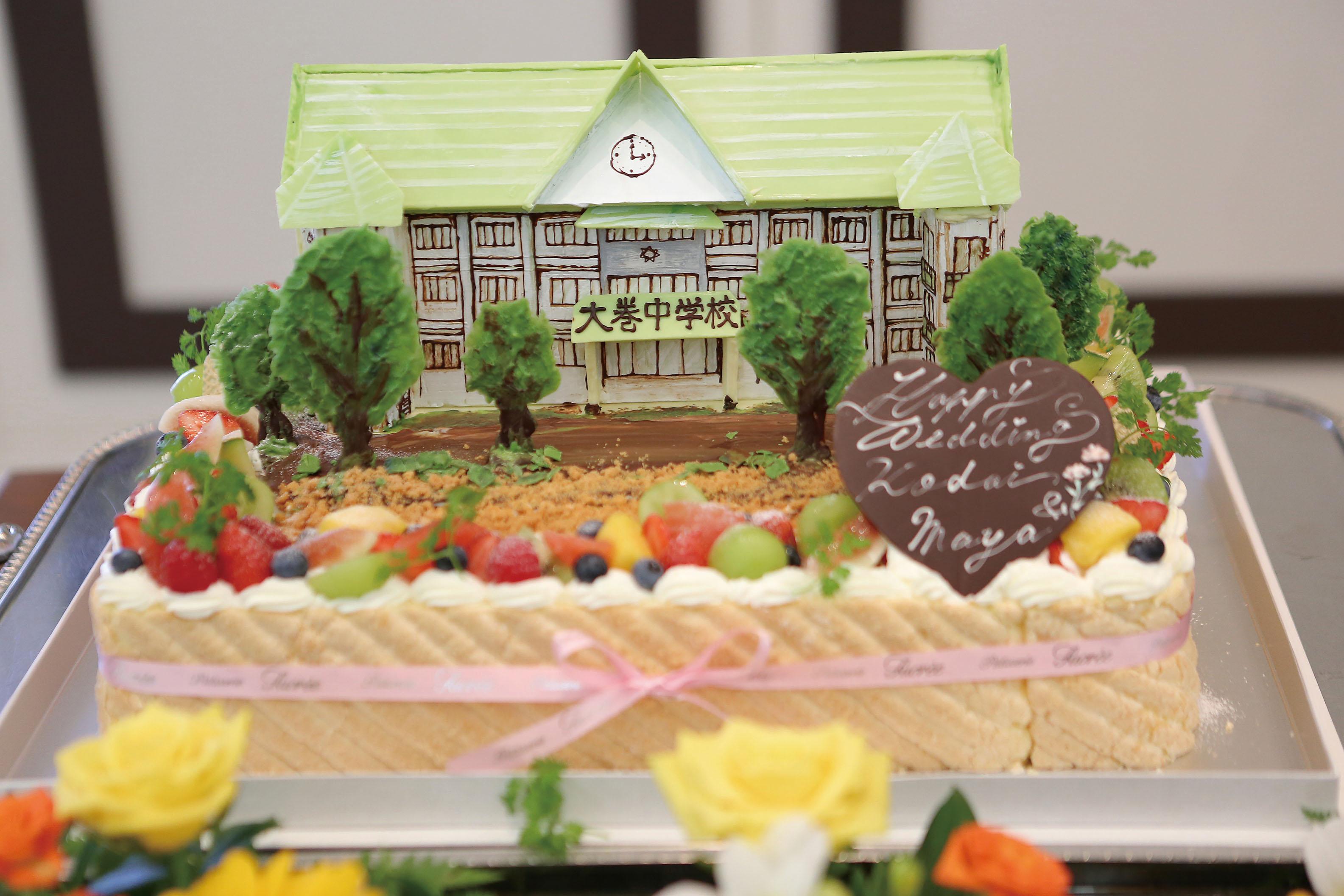 ウェディングケーキ スクエア 2段